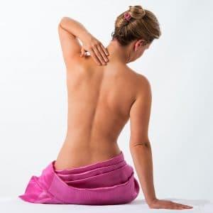 Patient mit Nackenschmerzen