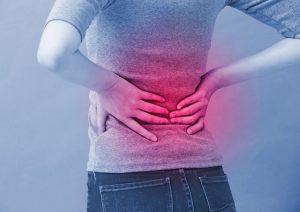 Medizinische Grafik: Hexenschuss, Darstellung betroffene Muskulatur