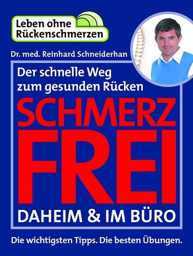 Buchcover: Schmerzfrei daheim & im Büro